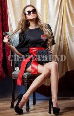 Платье Москино черное. Женская одежда оптом от