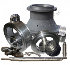 Spare parts to granulators of any type with ring