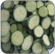 Vegetable marrows zucchinis (ring cube)
