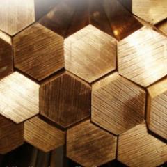 Hexagon brass L-63