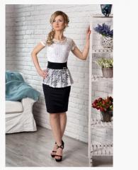 Женское платье гипюровое. РАЗМЕРЫ: 42,44,46,48