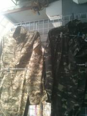 Rade camouflage suits and trousers, t-shirts, caps
