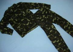CAMOUFLAGE SUITS AND TROUSERS (ALL-MILITARY)