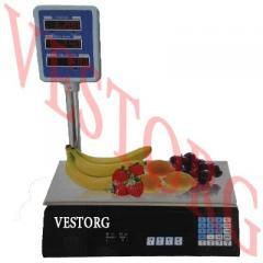 Весы торговые электронные 40кг со стойкой