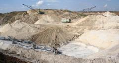 Mineral mining company, production: the kaolin is