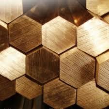 Brass hexagon of semi-hard L63 of FRIDAY of AV, 22