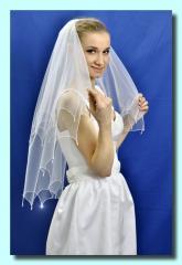 """Свадебная фата """"Кайма с"""