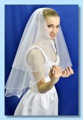 "Свадебная фата ""Кайма пунктир""."
