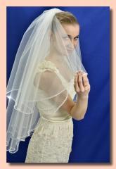 """Свадебная фата """"Кайма провись""""."""