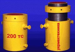 Домкрат гидравлический ДГФУ-200 с фиксирующей