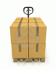 Production container from a corrugated cardboard