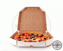 Box cardboard for pizza