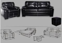 Модульная модель 'Лексус' включает в себя диван,