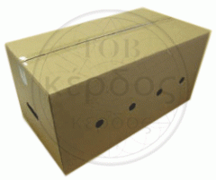 Packing for eggs from a corrugated cardboard