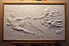"Picture bas-relief ""Adam's Creation"