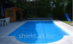 Solar film for swimming pools, 400 microns