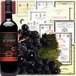 Вино марочное десертное красное `Черный Доктор