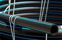 The pipe is plastic vododoprovodny
