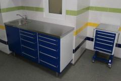 Furniture set. Sanitary and working block.