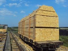 Сосна -доска обрезная, ГОСТ 8486-86 вагонами