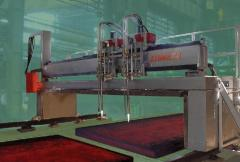 "The car for thermal cutting of slabs ""the"