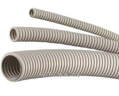 Труба гибкая гофрированная легкая, ПВХ
