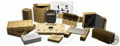 Boxes of corrugated fibreboard for equipmen