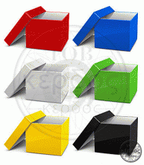 Boxes are cardboard full-color