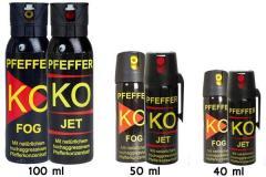 Газовый баллончик KO (FOG) аэрозольный 40 мл.