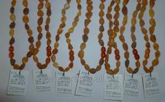Medical not polished amber beads. code 130