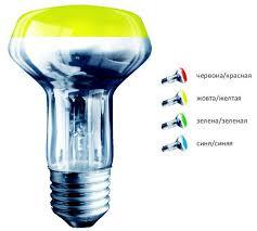 Лампа накаливания рефлекторная цветная ТМ