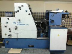 Offset two-colourful machine KBA Rapida 72K