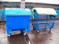 Eurocontainers for MSW, trash bins