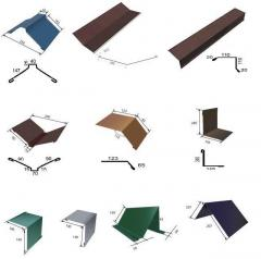 Metal levels for a roof
