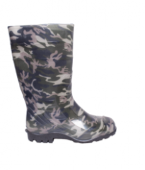Boot men's PVC camouflage, high
