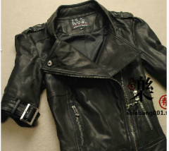 Кожаная куртка, короткий рукав