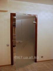 Doors glass. Interroom.