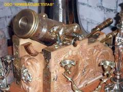 Art molding from bronze