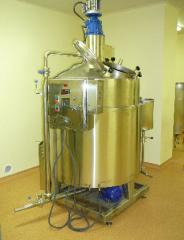 Site of preparation of emulsions and suspensions