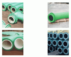 Wearproof and acidproof pipes for pneumatic and