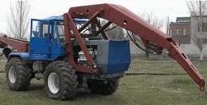 Бурильно-крановая машина БКМ-630 (на базе трактора