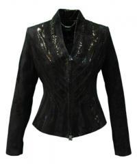 Куртка короткая (замш+накат)