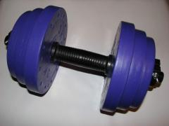 Dumbbells are type-setting. weight ot1kg to 50 kg.