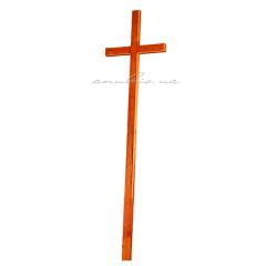 He cross is wooden Catholic