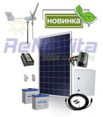 Set of the equipment of a hybrid vetro-solar power