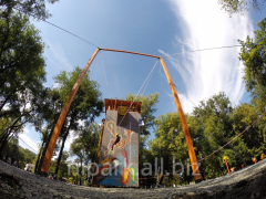 Attractions for adults. A swing for adults