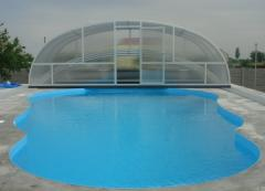 The pool is polypropylene. Construction of