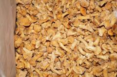 Chanterelle mushrooms the blanched documents