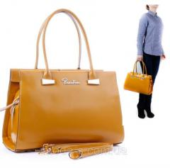 Women bag from skin fulvous Polina Eiter