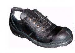 Обувь рабочая с специальным верхом из натуральной